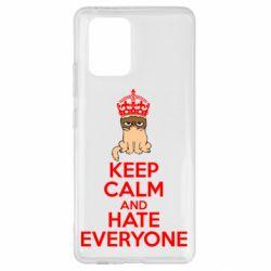 Чехол для Samsung S10 Lite KEEP CALM and HATE EVERYONE