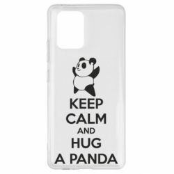 Чехол для Samsung S10 Lite KEEP CALM and HUG A PANDA