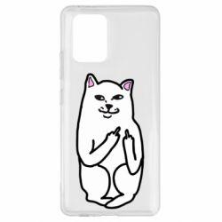 Чехол для Samsung S10 Lite Кот с факом