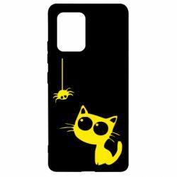 Чехол для Samsung S10 Lite Котик и паук