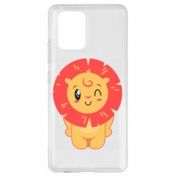 Чехол для Samsung S10 Lite Lion with orange mane
