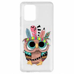 Чохол для Samsung S10 Lite Little owl with feathers