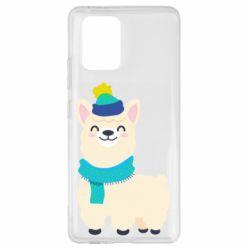 Чехол для Samsung S10 Lite Llama in a blue hat