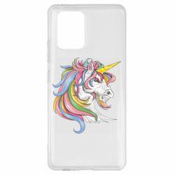 Чохол для Samsung S10 Кінь з кольоровою гривою