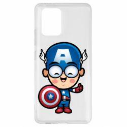 Чехол для Samsung S10 Lite Маленький Капитан Америка