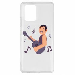 Чехол для Samsung S10 Lite Man playing the guitar flat vector