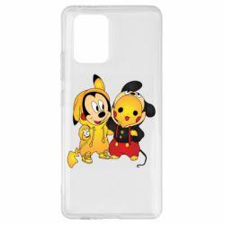 Чехол для Samsung S10 Lite Mickey and Pikachu