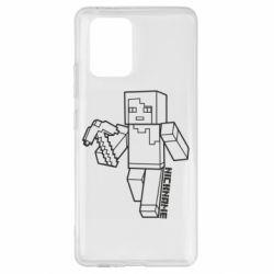 Чехол для Samsung S10 Lite Minecraft and hero nickname