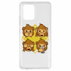 Чехол для Samsung S10 Lite Monkey See Hear Talk