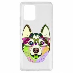 Чохол для Samsung S10 Multi-colored dog with glasses