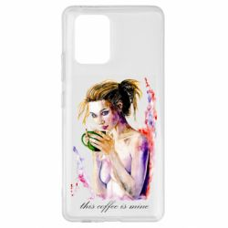 Чехол для Samsung S10 Lite Naked girl with coffee