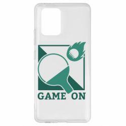 Чехол для Samsung S10 Lite Настольный Теннис игра