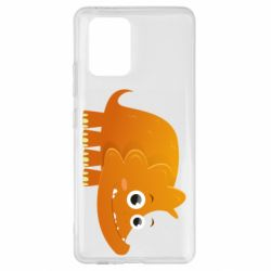 Чехол для Samsung S10 Lite Orange dinosaur
