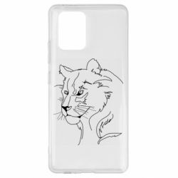 Чехол для Samsung S10 Lite Outline drawing of a lion
