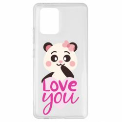 Чехол для Samsung S10 Lite Panda and love