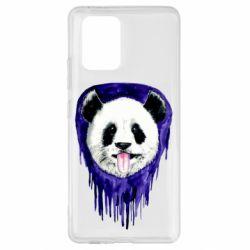 Чехол для Samsung S10 Lite Panda on a watercolor stain
