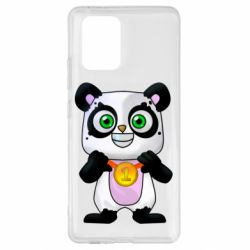 Чехол для Samsung S10 Lite Panda with a medal on his chest