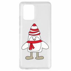 Чехол для Samsung S10 Lite Penguin in the hat and scarf
