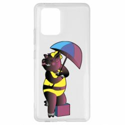 Чохол для Samsung S10 Pig with umbrella
