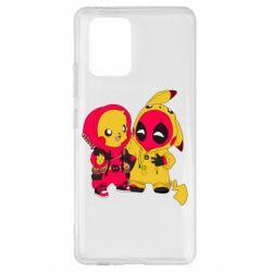 Чехол для Samsung S10 Lite Pikachu and deadpool