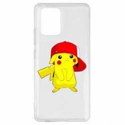 Чехол для Samsung S10 Lite Pikachu in a cap