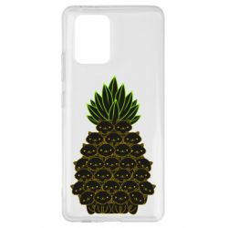 Чехол для Samsung S10 Lite Pineapple cat