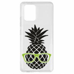 Чехол для Samsung S10 Lite Pineapple with glasses