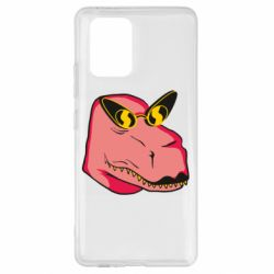 Чохол для Samsung S10 Pink dinosaur with glasses head