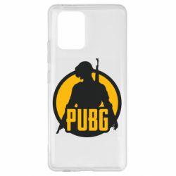 Чехол для Samsung S10 Lite PUBG logo and game hero