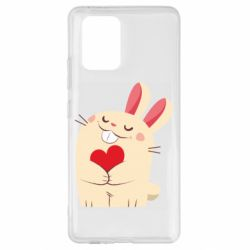 Чехол для Samsung S10 Lite Rabbit with heart