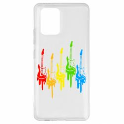 Чехол для Samsung S10 Lite Разноцветные гитары