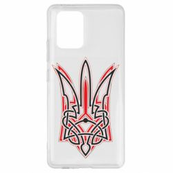 Чехол для Samsung S10 Lite Red and black coat of arms of Ukraine
