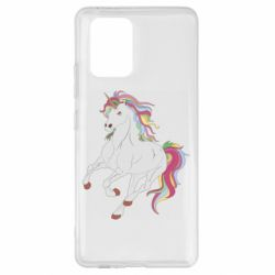 Чехол для Samsung S10 Lite Red eye unicorn