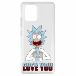 Чохол для Samsung S10 Rick and Morty fack and love you