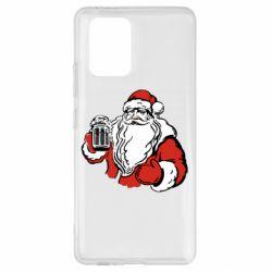 Чехол для Samsung S10 Lite Santa Claus with beer