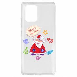 Чехол для Samsung S10 Lite Santa says merry christmas