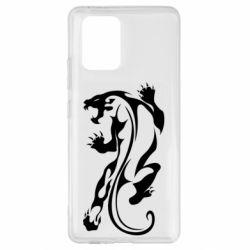 Чехол для Samsung S10 Lite Silhouette of a tiger