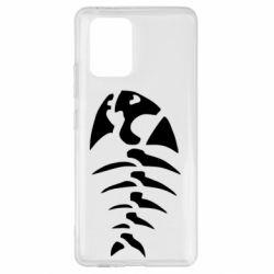 Чехол для Samsung S10 Lite скелет рыбки