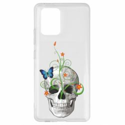 Чехол для Samsung S10 Lite Skull and green flower