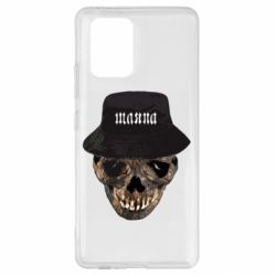 Чехол для Samsung S10 Lite Skull in hat and text