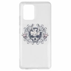 Чохол для Samsung S10 Skull with horns and patterns