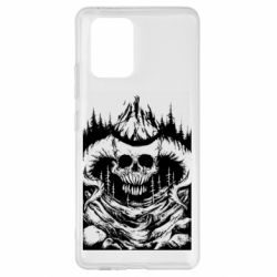 Чехол для Samsung S10 Lite Skull with horns in the forest