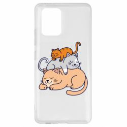 Чехол для Samsung S10 Lite Sleeping cats