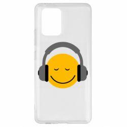 Чехол для Samsung S10 Lite Smile in the headphones