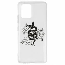 Чохол для Samsung S10 Lite Snake with flowers