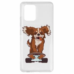 Чехол для Samsung S10 Lite Собака Кавалер на Скейте