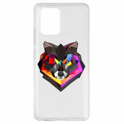 Чехол для Samsung S10 Lite Сolorful wolf