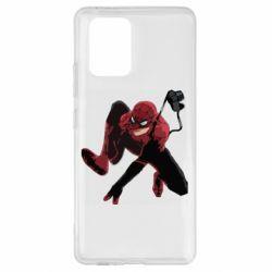 Чехол для Samsung S10 Lite Spiderman flat vector