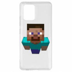 Чехол для Samsung S10 Lite Steve from Minecraft