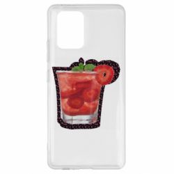 Чохол для Samsung S10 Strawberry cocktail on a background of flowers